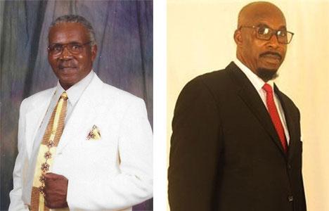 Deacons John Coates and Clyde Murphy
